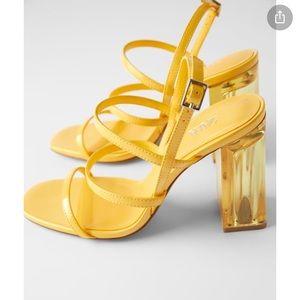 Methacrylate wide heeled sandals. NWT